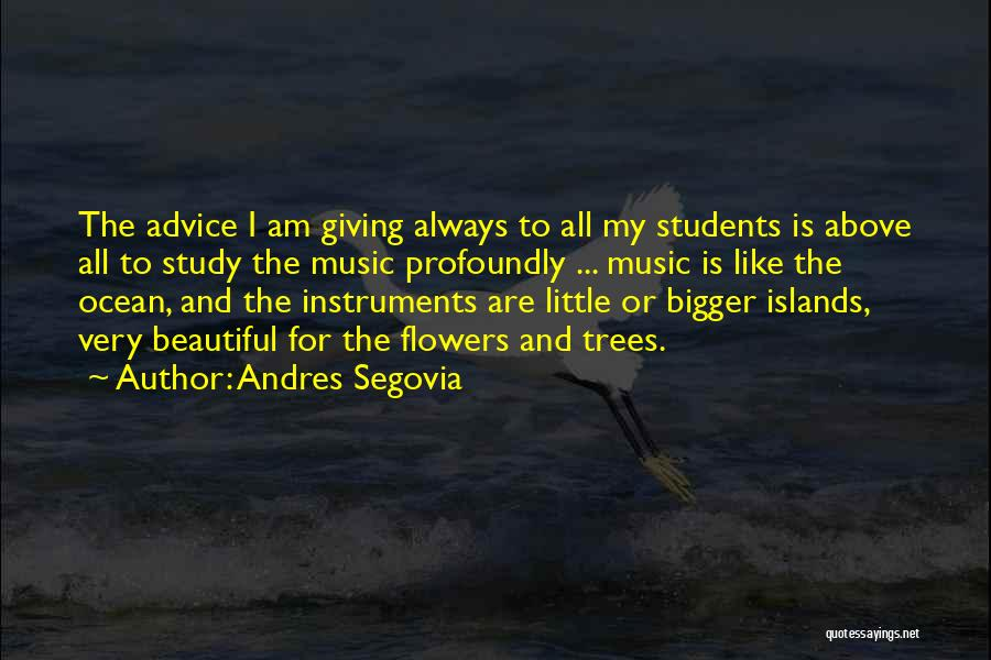 Profoundly Beautiful Quotes By Andres Segovia