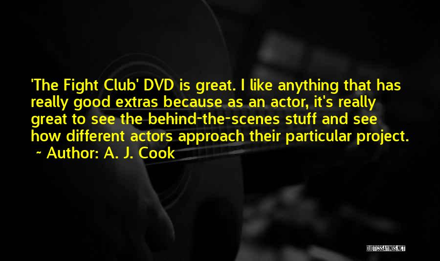 Project Approach Quotes By A. J. Cook