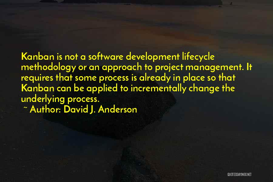 Project Approach Quotes By David J. Anderson