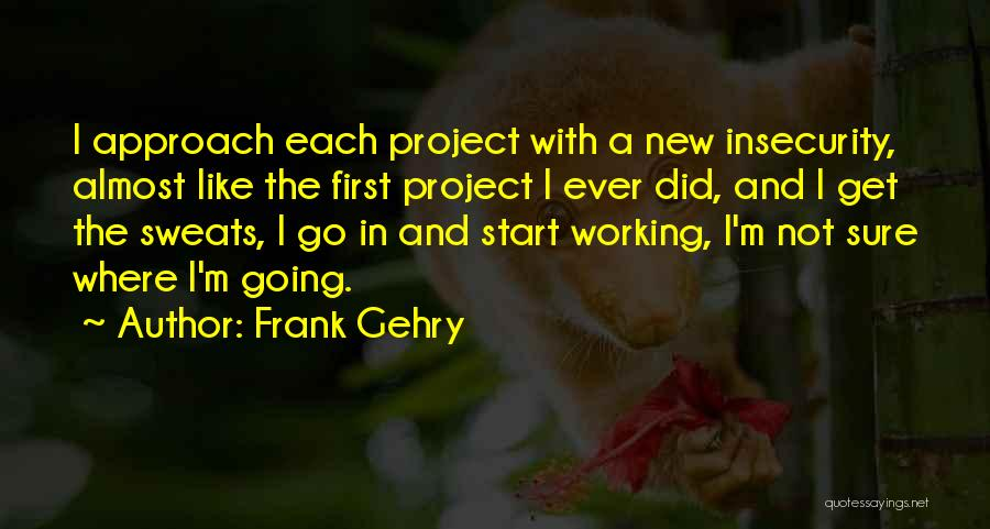 Project Approach Quotes By Frank Gehry