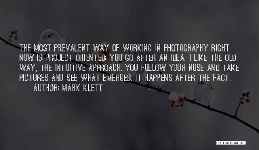 Project Approach Quotes By Mark Klett