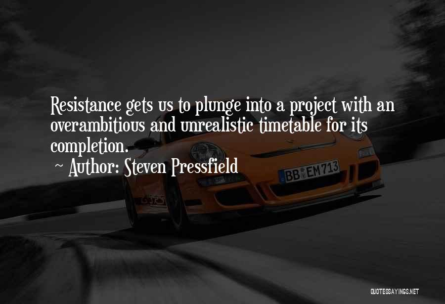 Project Completion Quotes By Steven Pressfield