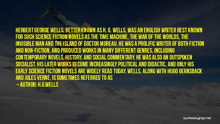 Prolific Quotes By H.G.Wells
