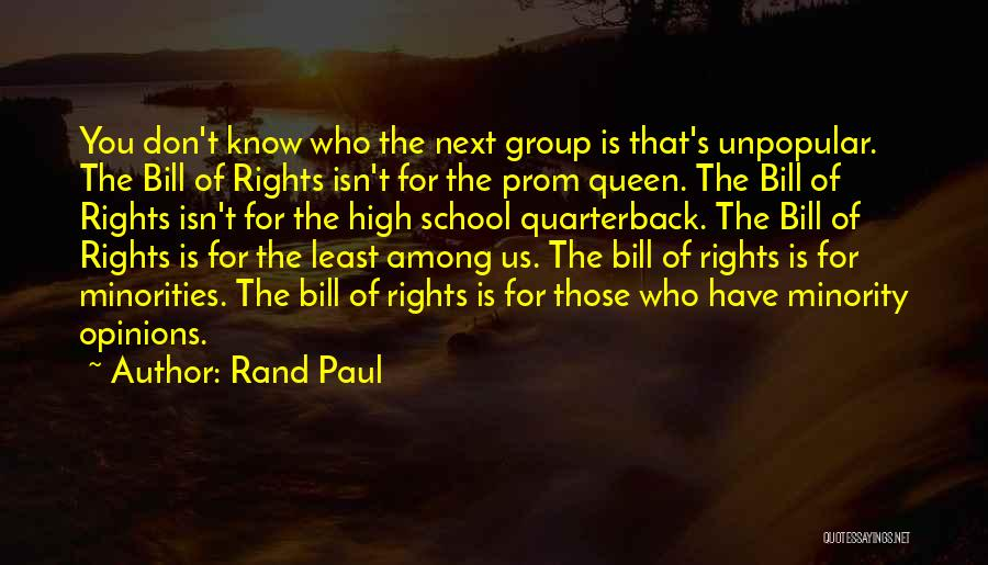 Prom Quotes By Rand Paul