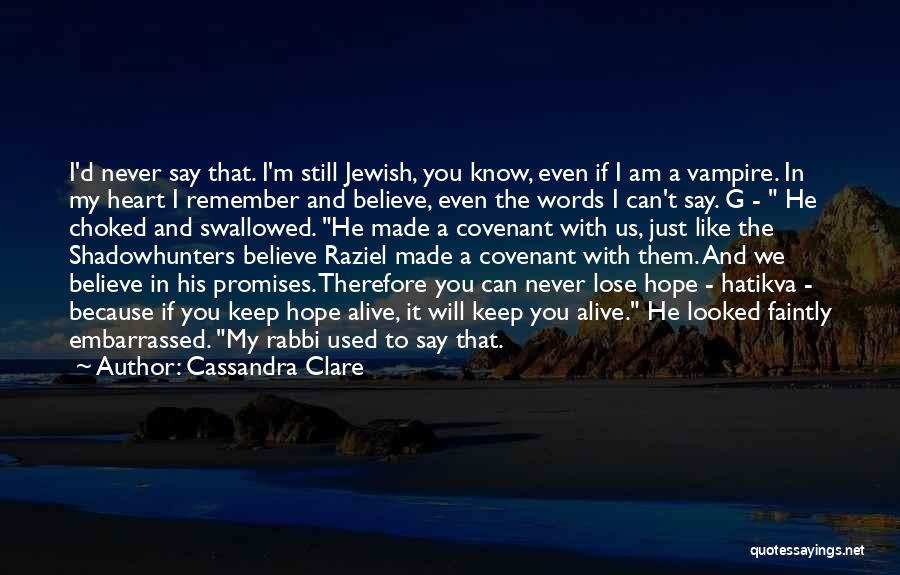 Promises Are Just Words Quotes By Cassandra Clare