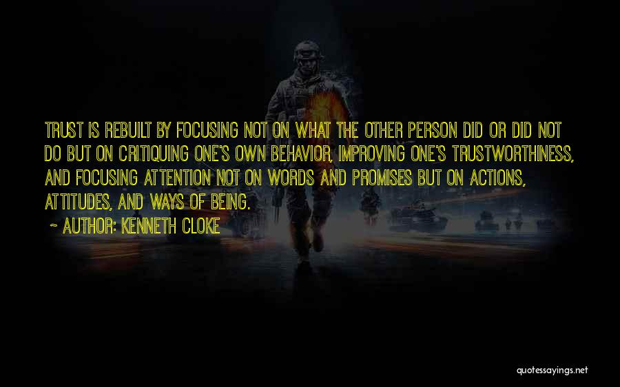 Promises Are Just Words Quotes By Kenneth Cloke