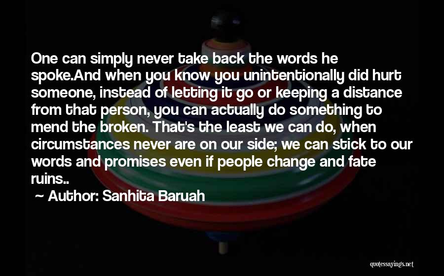 Promises Are Just Words Quotes By Sanhita Baruah