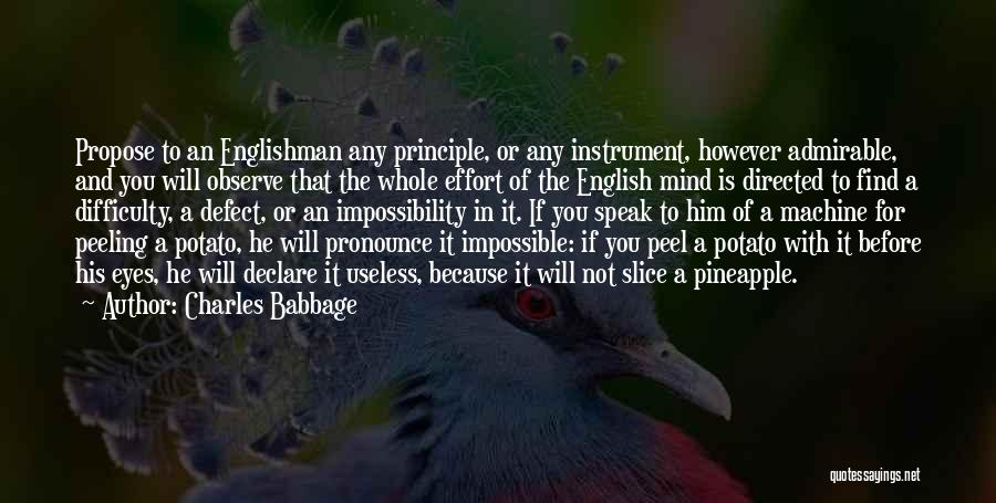Pronounce Quotes By Charles Babbage