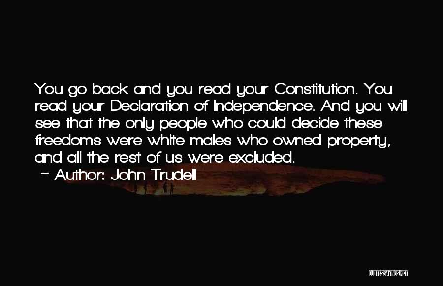 Property Quotes By John Trudell