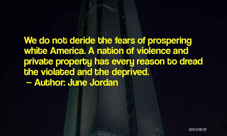 Property Quotes By June Jordan