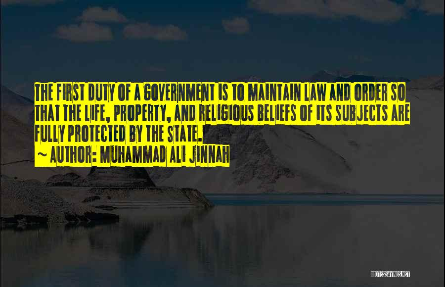 Property Quotes By Muhammad Ali Jinnah