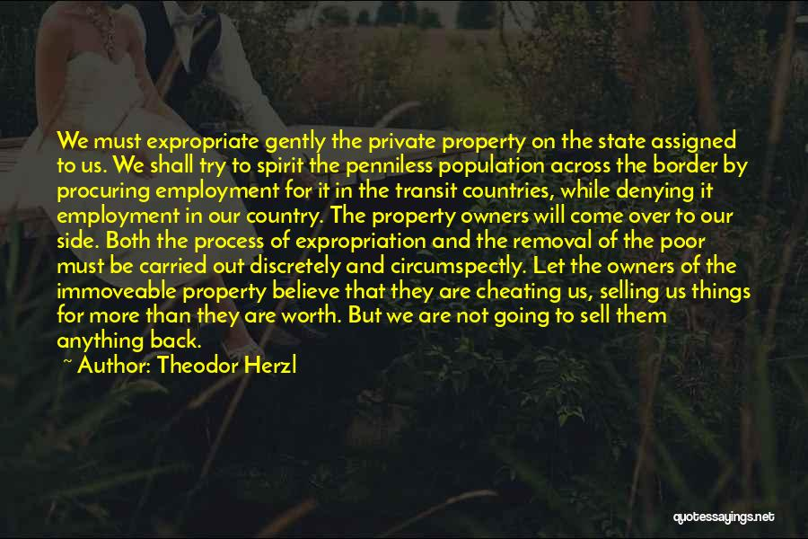 Property Quotes By Theodor Herzl