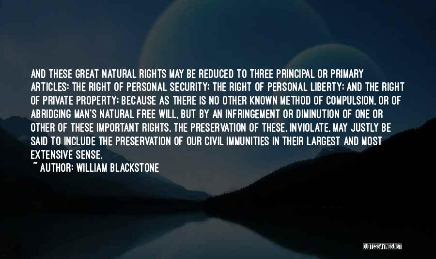 Property Quotes By William Blackstone