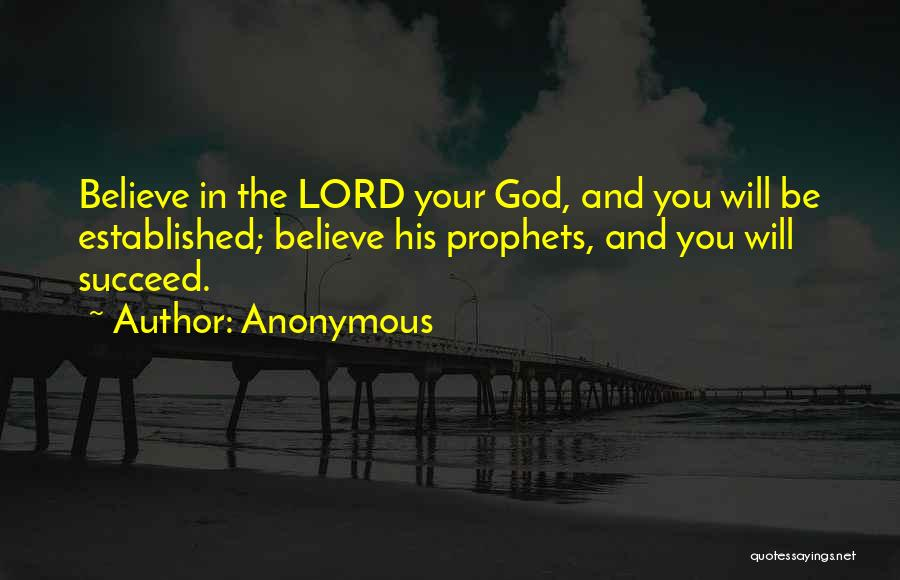 Prophets Quotes By Anonymous