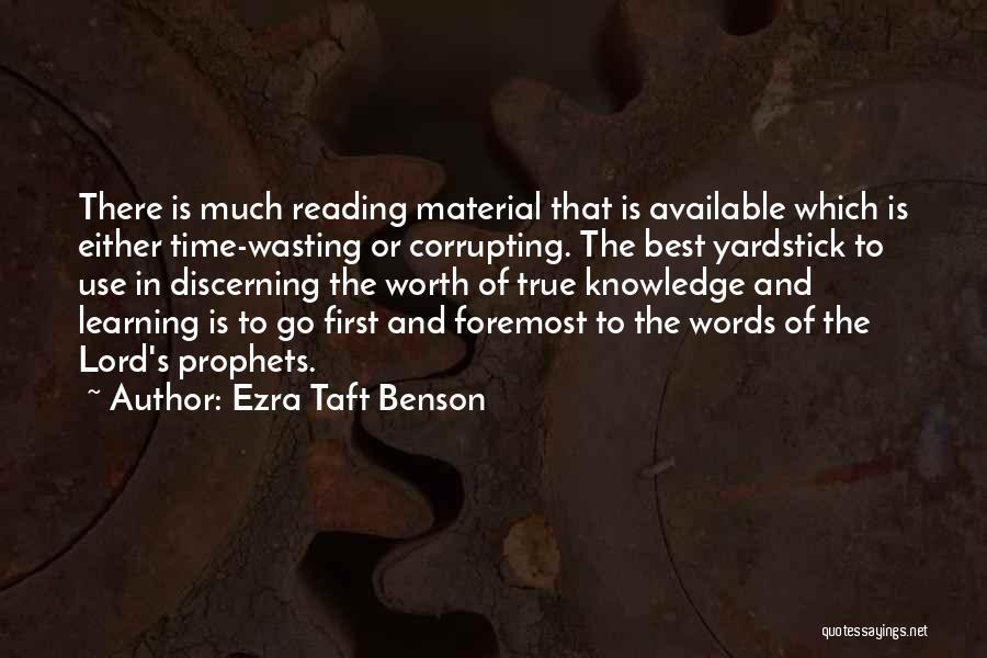 Prophets Quotes By Ezra Taft Benson