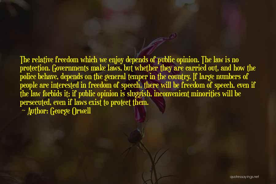 Protect Minorities Quotes By George Orwell