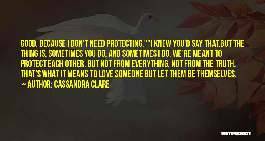 Protecting Each Other Quotes By Cassandra Clare