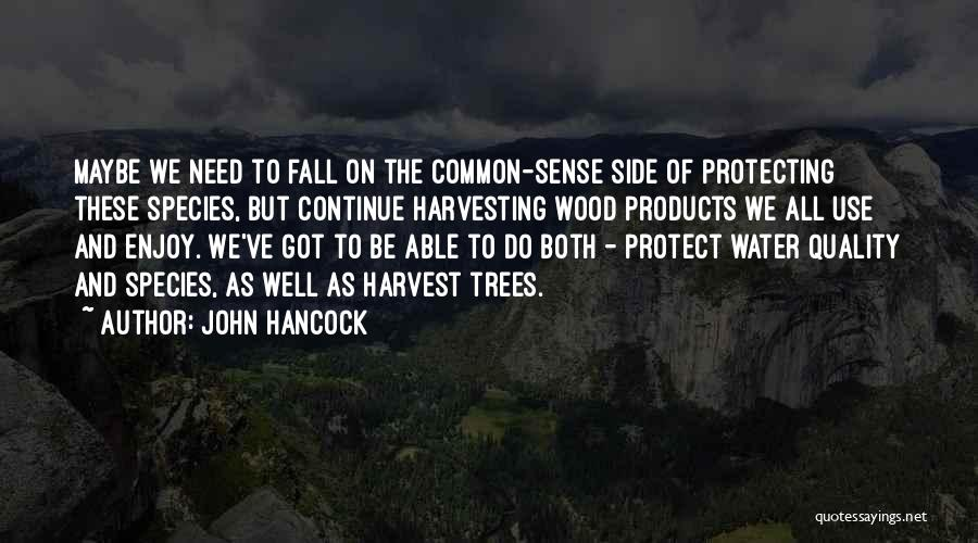 Protecting Each Other Quotes By John Hancock