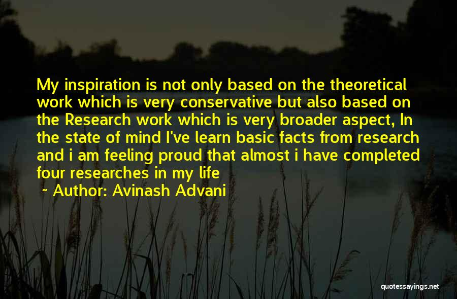 Proud Of My Work Quotes By Avinash Advani