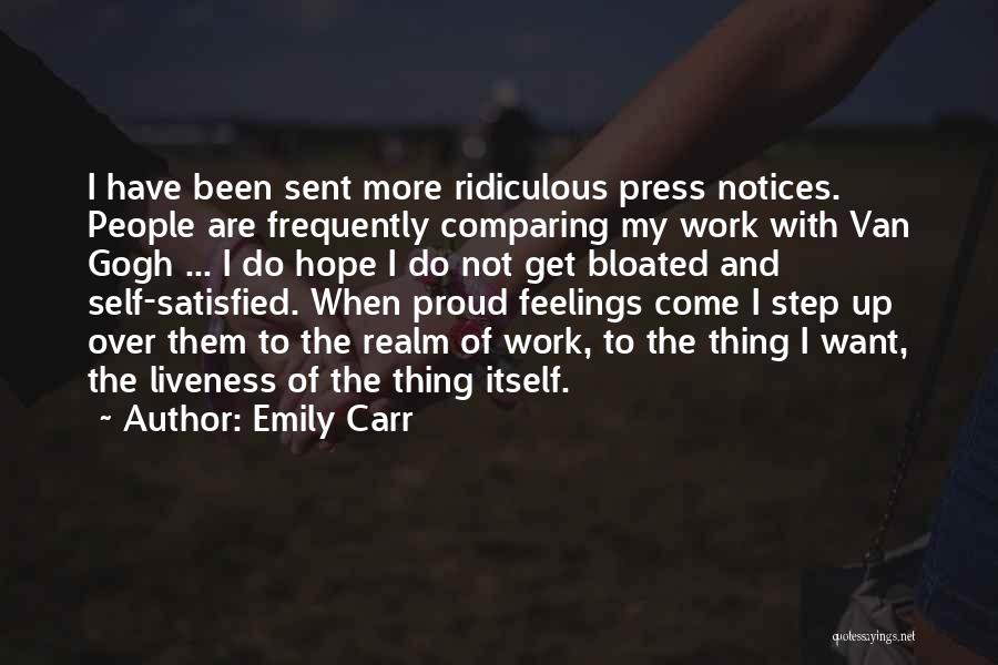 Proud Of My Work Quotes By Emily Carr