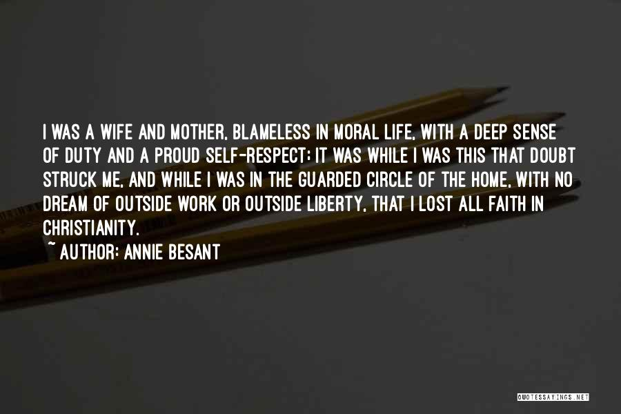 Proud Of Wife Quotes By Annie Besant