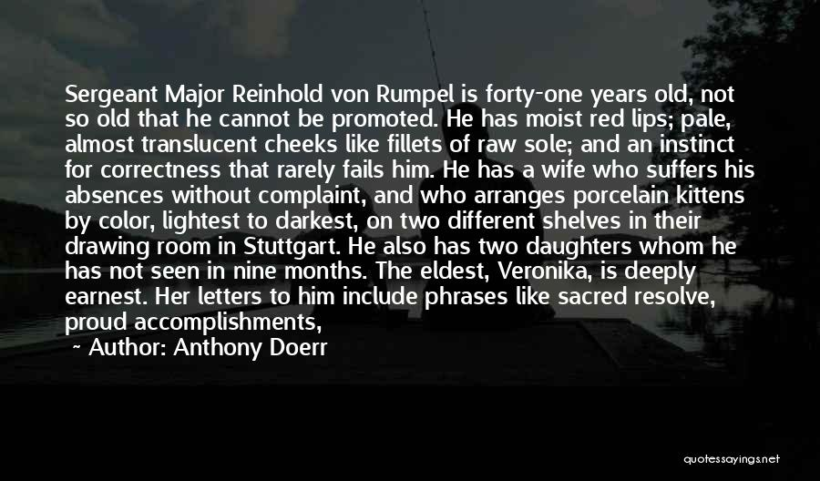 Proud Of Wife Quotes By Anthony Doerr