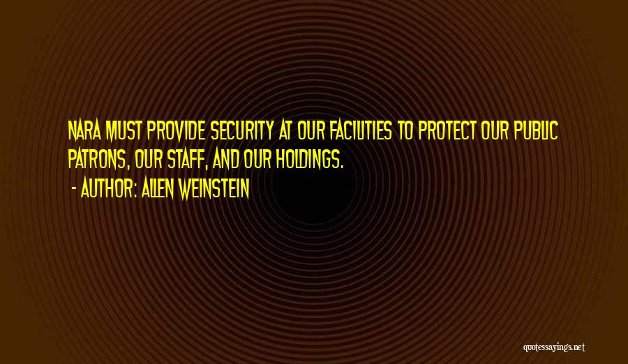 Provide And Protect Quotes By Allen Weinstein