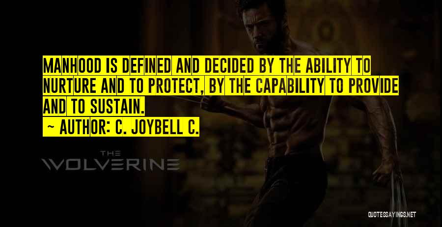 Provide And Protect Quotes By C. JoyBell C.