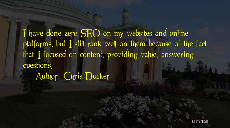 Providing Value Quotes By Chris Ducker
