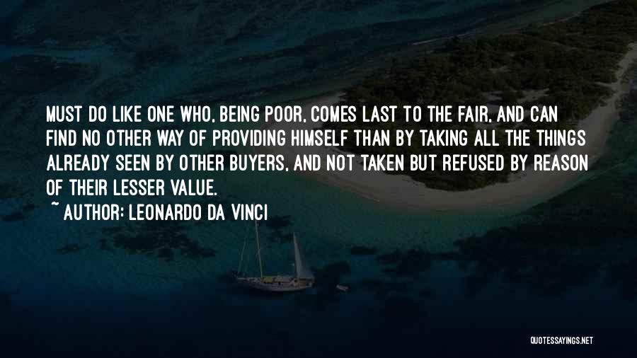 Providing Value Quotes By Leonardo Da Vinci