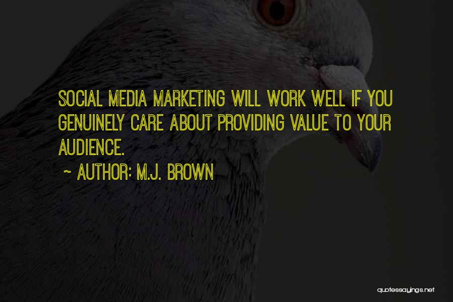 Providing Value Quotes By M.J. Brown