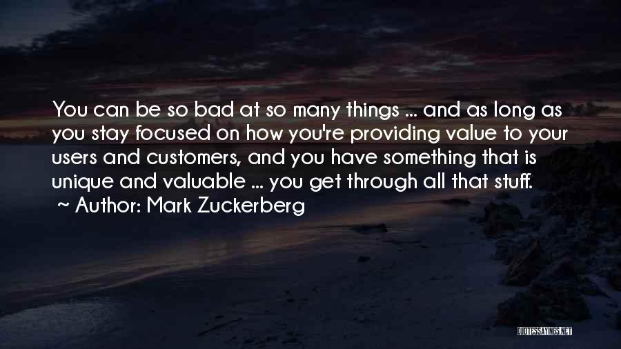 Providing Value Quotes By Mark Zuckerberg