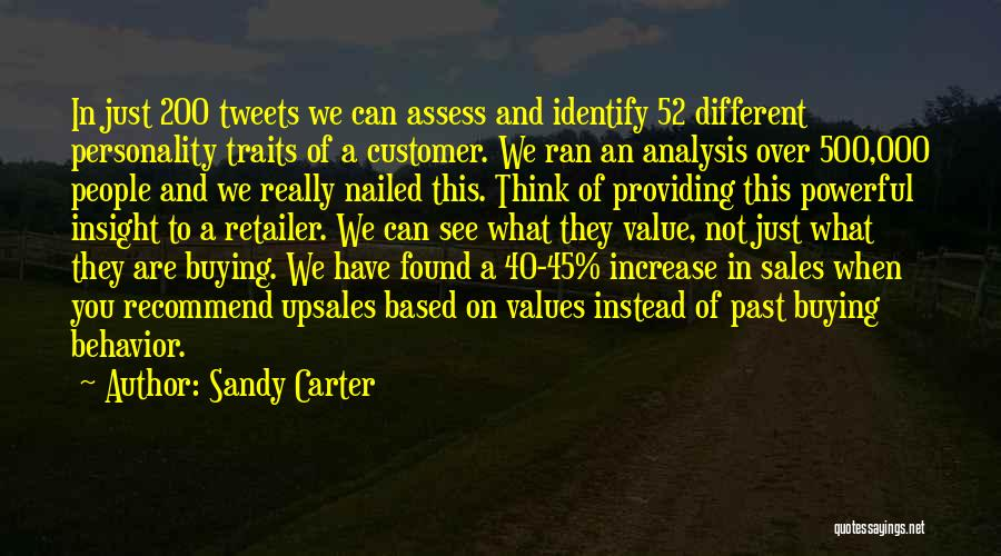 Providing Value Quotes By Sandy Carter