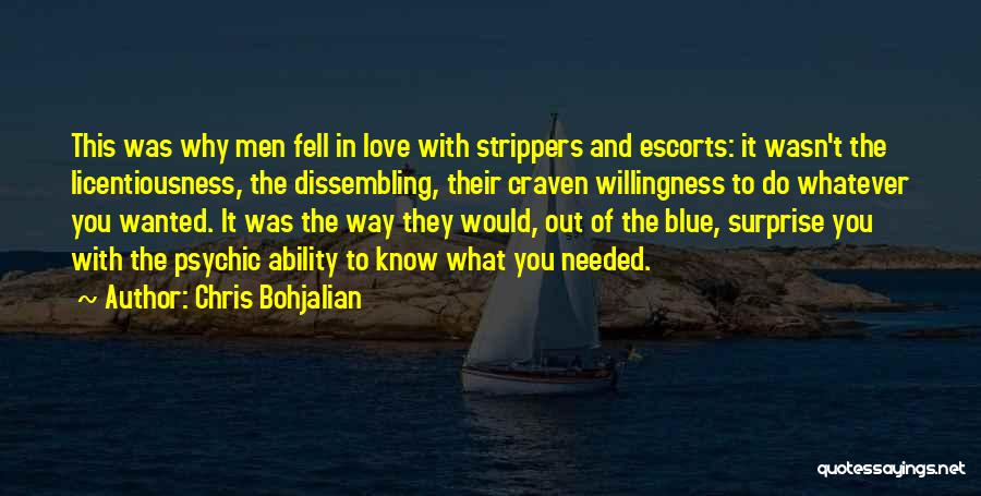 Psychic Love Quotes By Chris Bohjalian
