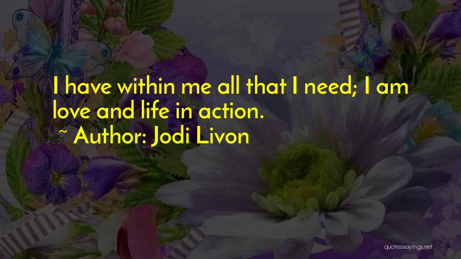 Psychic Love Quotes By Jodi Livon