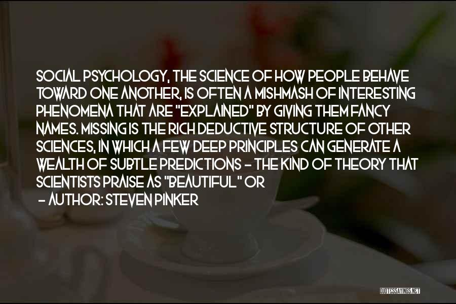 Psychology Quotes By Steven Pinker