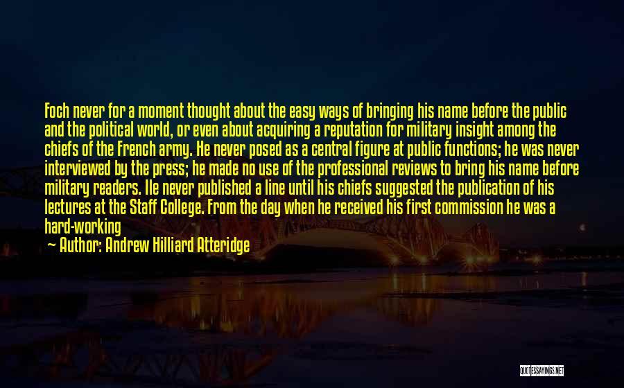 Public Figure Quotes By Andrew Hilliard Atteridge