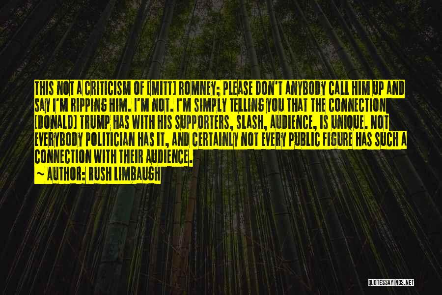 Public Figure Quotes By Rush Limbaugh