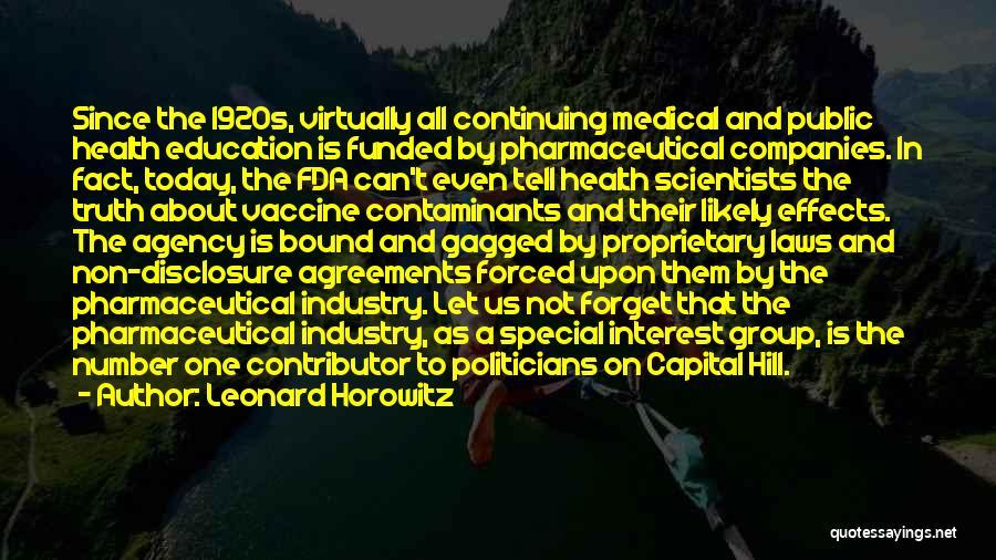 Public Health Education Quotes By Leonard Horowitz
