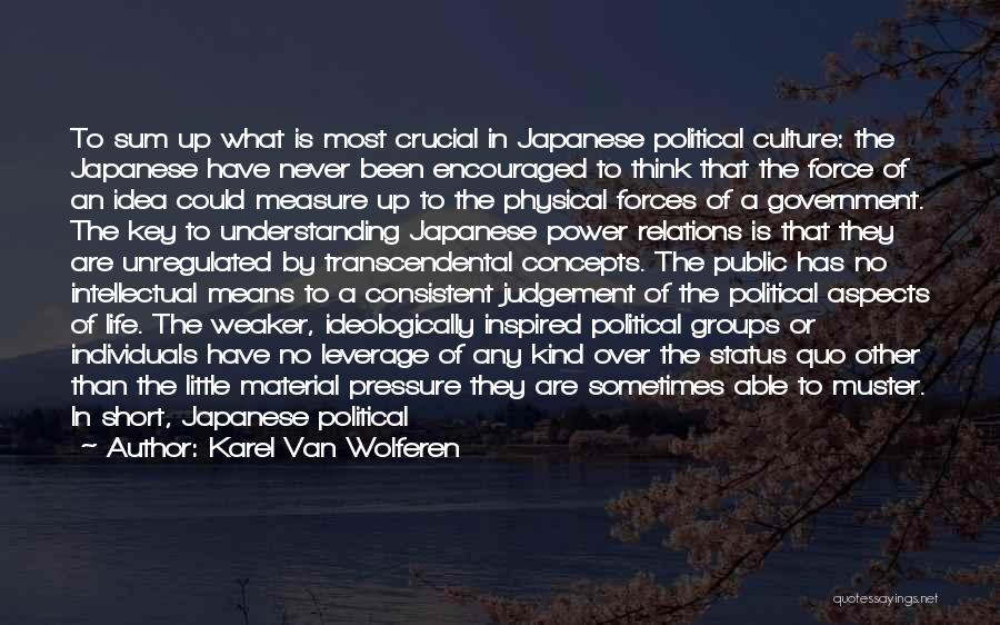 Public Relations Quotes By Karel Van Wolferen
