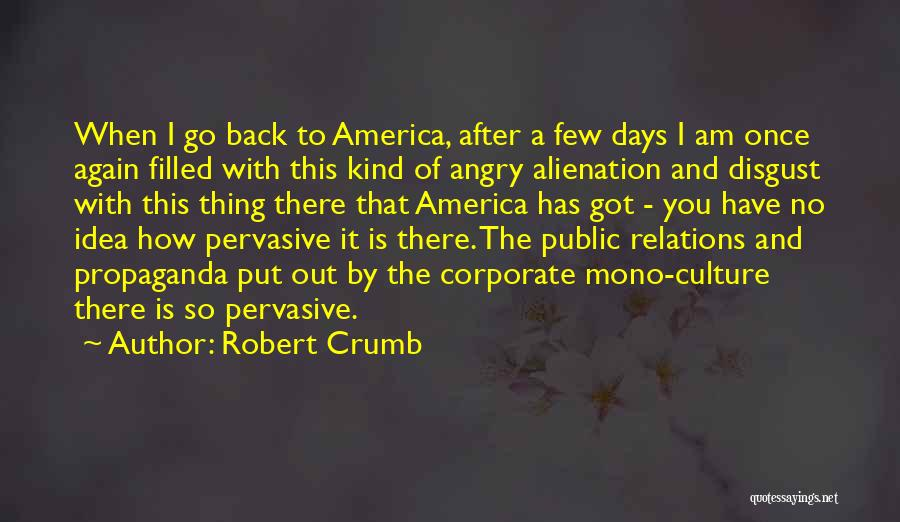 Public Relations Quotes By Robert Crumb