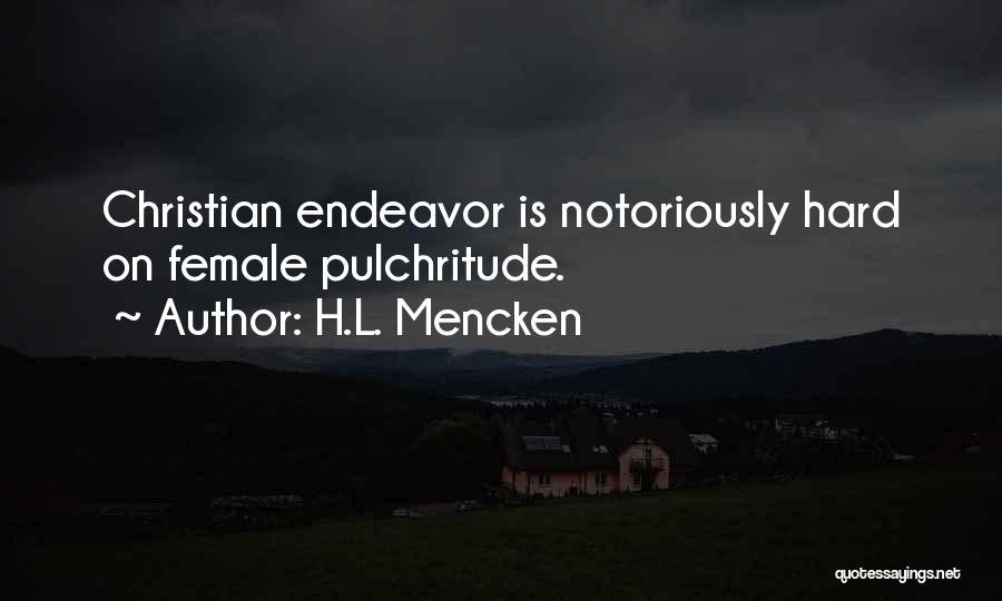 Pulchritude Quotes By H.L. Mencken