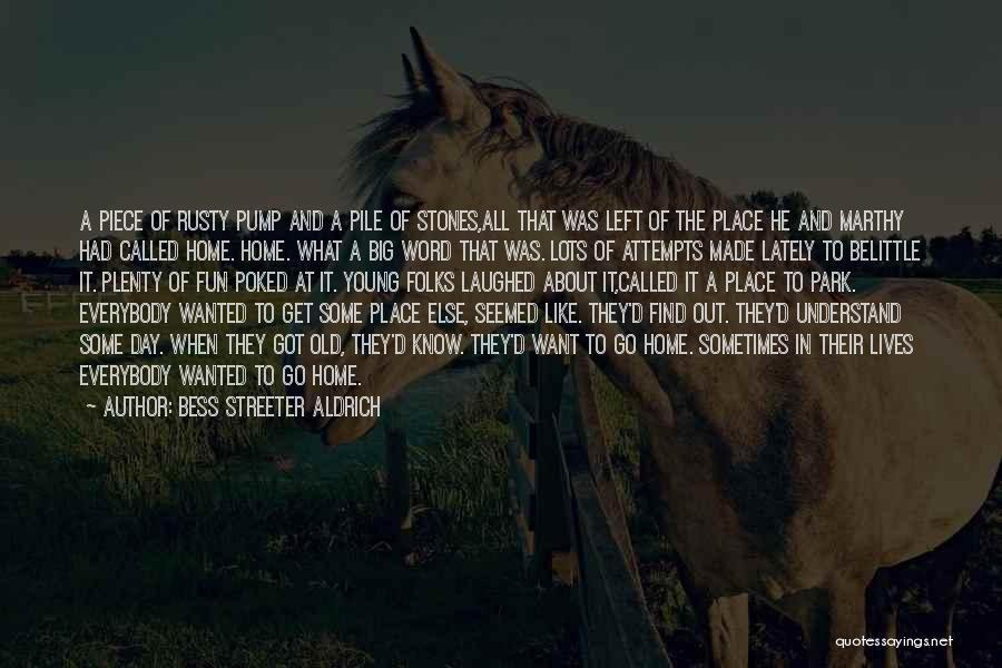 Pump It Quotes By Bess Streeter Aldrich