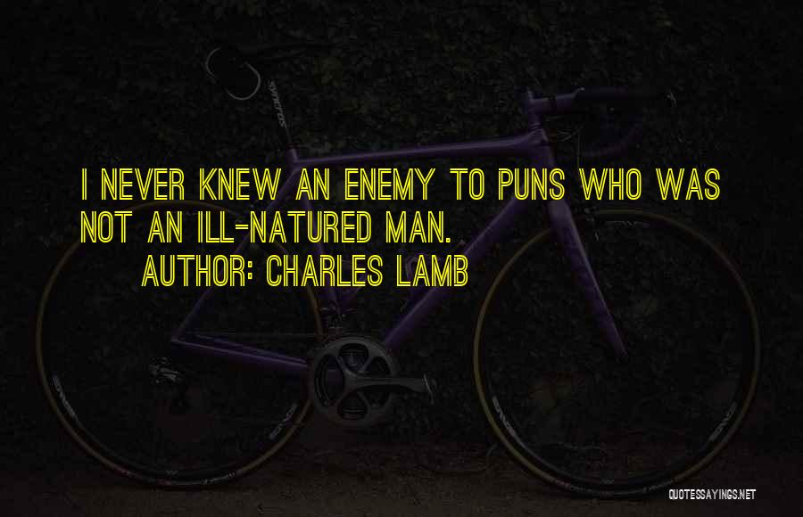 Pun Quotes By Charles Lamb