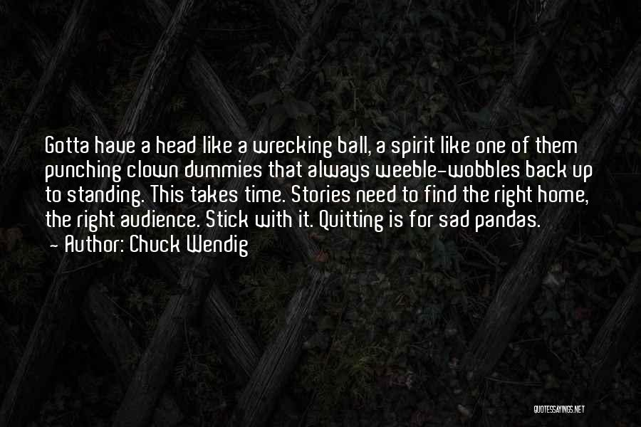 Punching The Clown Quotes By Chuck Wendig