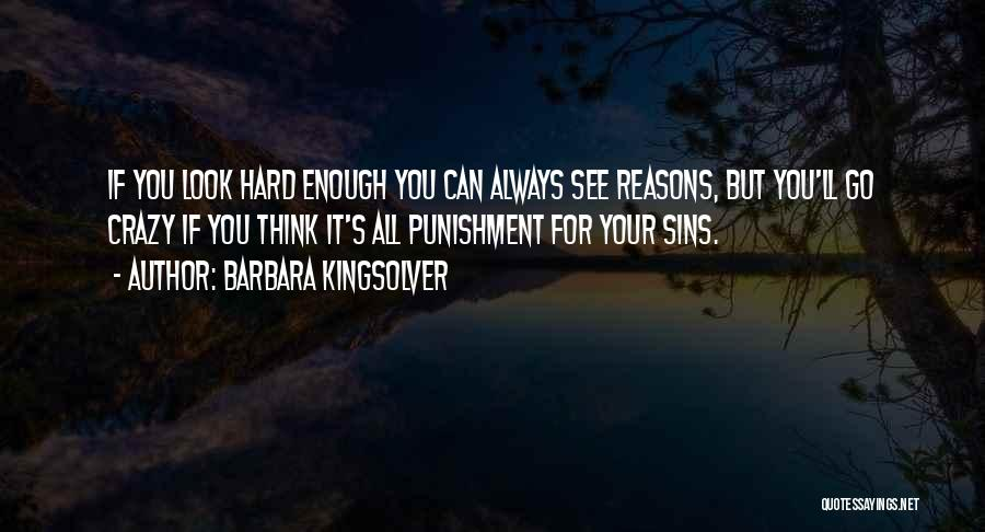Punishment For Sins Quotes By Barbara Kingsolver