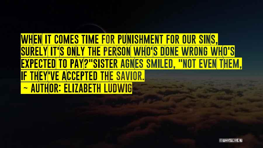 Punishment For Sins Quotes By Elizabeth Ludwig