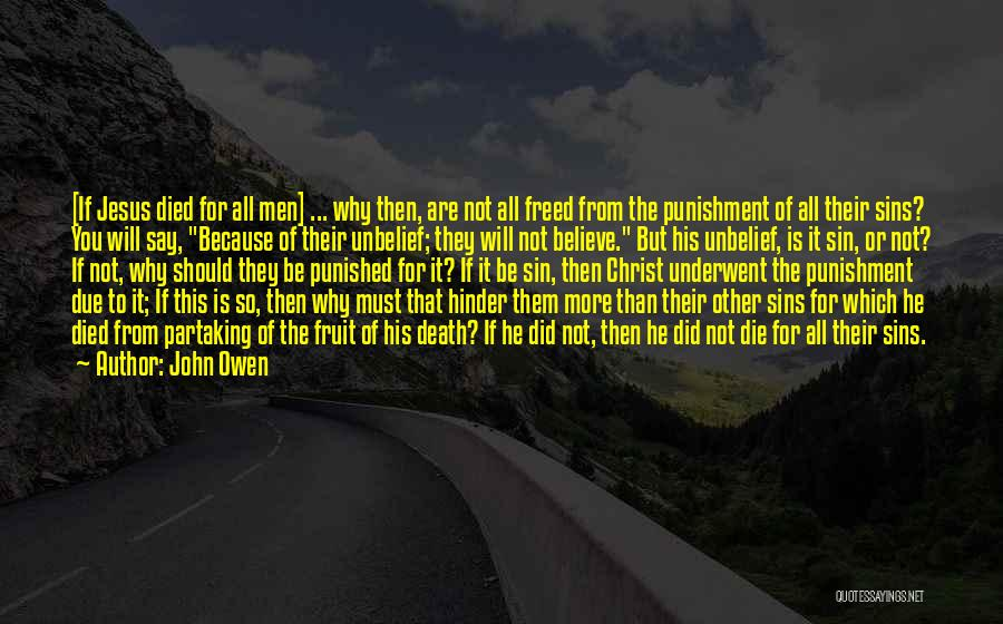 Punishment For Sins Quotes By John Owen