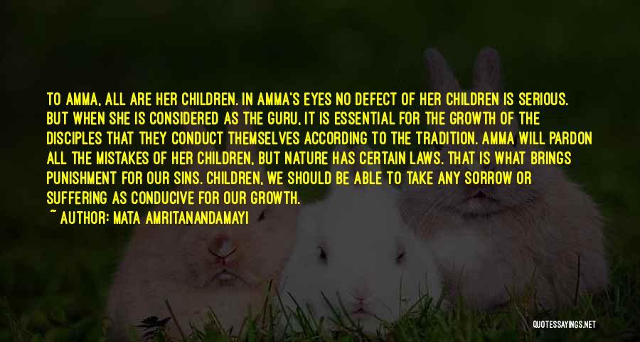 Punishment For Sins Quotes By Mata Amritanandamayi