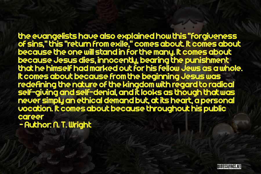 Punishment For Sins Quotes By N. T. Wright